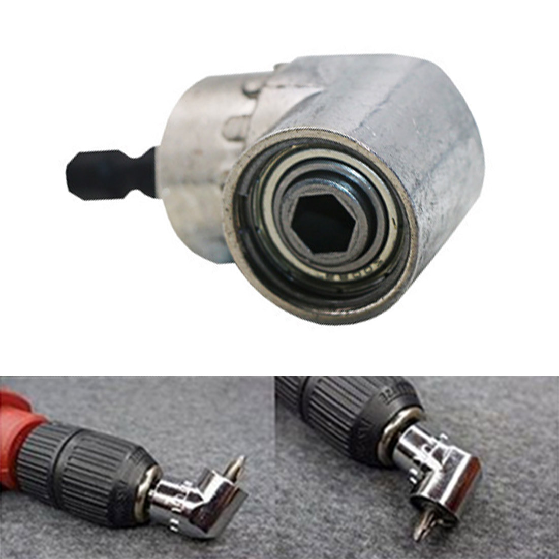 Angle Screw Driver Socket Holder Adapter Adjustable Bits Nozzles For Screwdriver Bit Right Angle Head Screwdriver