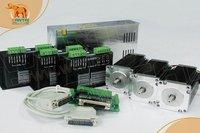 Hot Vender! CNC Wantai 3 Nema Eixo 23 oz-in + Driver DQ542MA 50 V 4.2A Stepper Motor 57BYGH115-003 128 Micro Plástico do Metal gravador