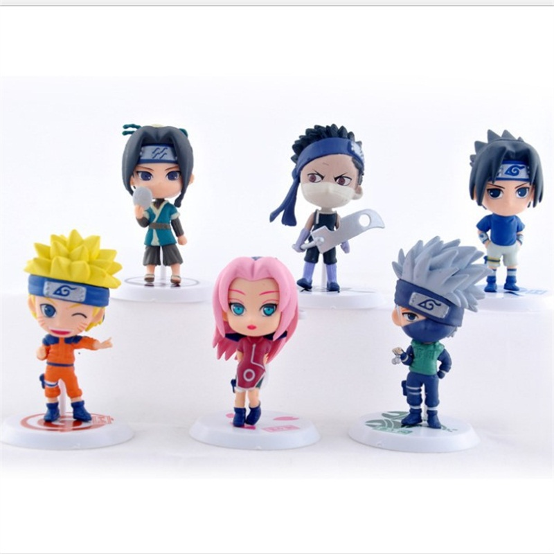 6pc/set Anime Naruto Action Figure toys 3