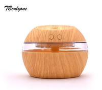 Tbonlyone 300Ml Mini Portable Wood Grain For Office Bedroom Mini Air Humidifier Ultrasonic Essential Oil Aromatherapy