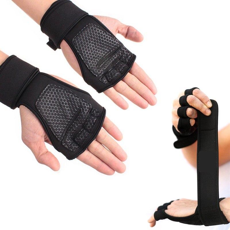 Gewichtheben Handschuhe mit Handgelenk Wraps Für Männer & Frauen Nicht-Slip Palm Silikon Grip Gym Glove Für Crossfit bodybuilding Pull Ups