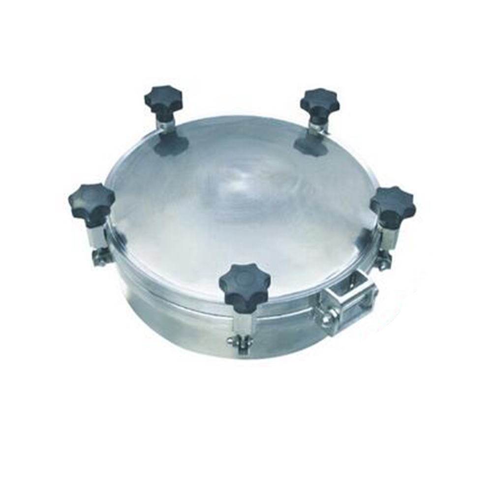 New arrival 150mm - 600mm SS304 Pressure Circular Manhole Cover Tank Round Manway Door new arrival 450mm ss304 circular manhole cover with pressure round tank manway door full view glass cover with good connection