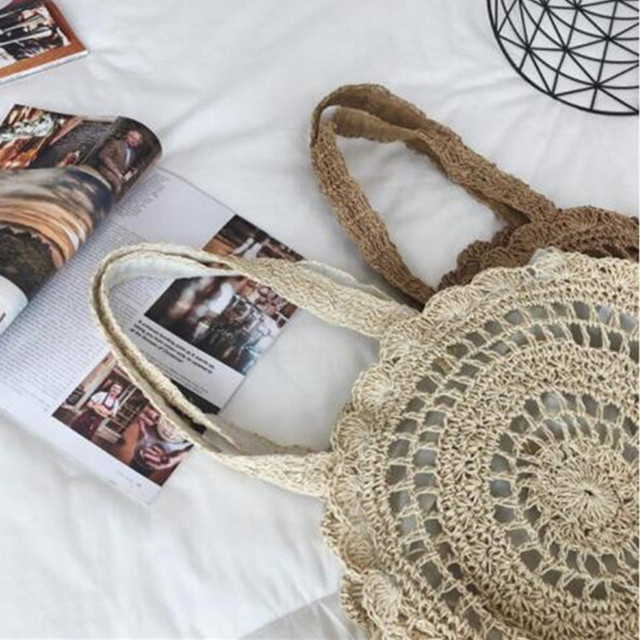 Summer Rattan Handmade Knitted Travel Shoulder Bags 5