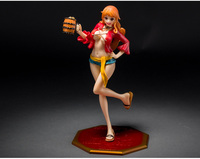 22cm Japanese anime One Piece Sexy Nami Barrel Cask Anime Action Figures Toys Collection Model Toys Mini Kids Gifts