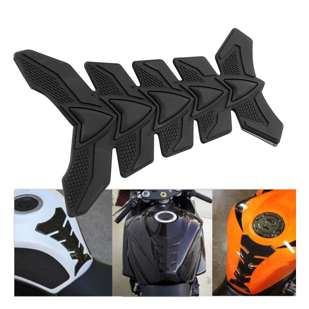 Universal Motorcycle 3D Rubber Gas Fuel Oil Tank Cap Pad Protector Sticker