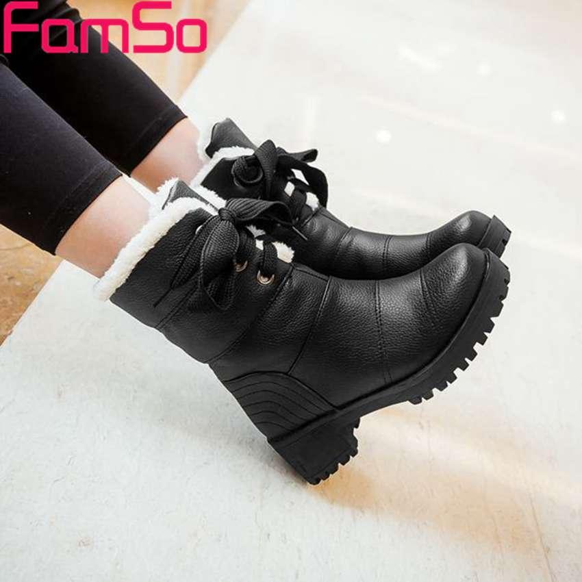 Plus Size34 43 2016 font b Women b font Boots Winter Waterproof Snow Boots 4 Colors