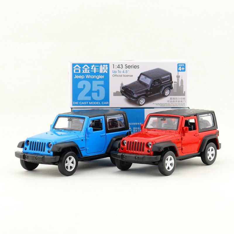 1:43 Scale/Diecast Toy Model/Jeep Wrangler SUV Sport/Super Sport Racing Car/Educational Collection/Pull Back/Gift For Children