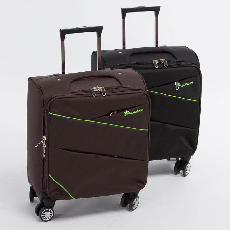 16-дюймовий посадочний багаж на 8 універсальних коліщатках для чоловічих і жіночих, чорно-коричневих кошиків