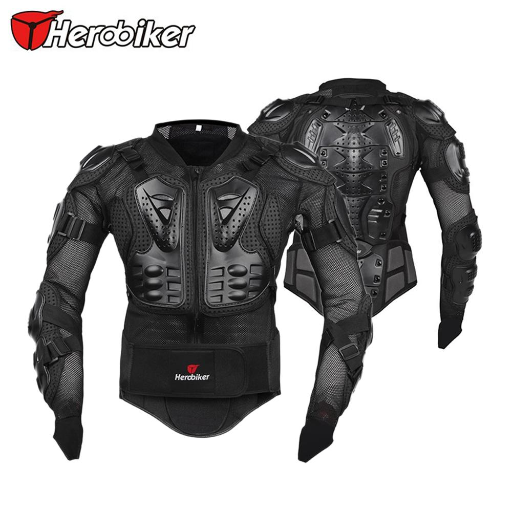 ФОТО HEROBIKER Men Motorcycle Motocross Off-Road Racing Riding Body Armor Jacket Protector Guard Protection Gear Back Support