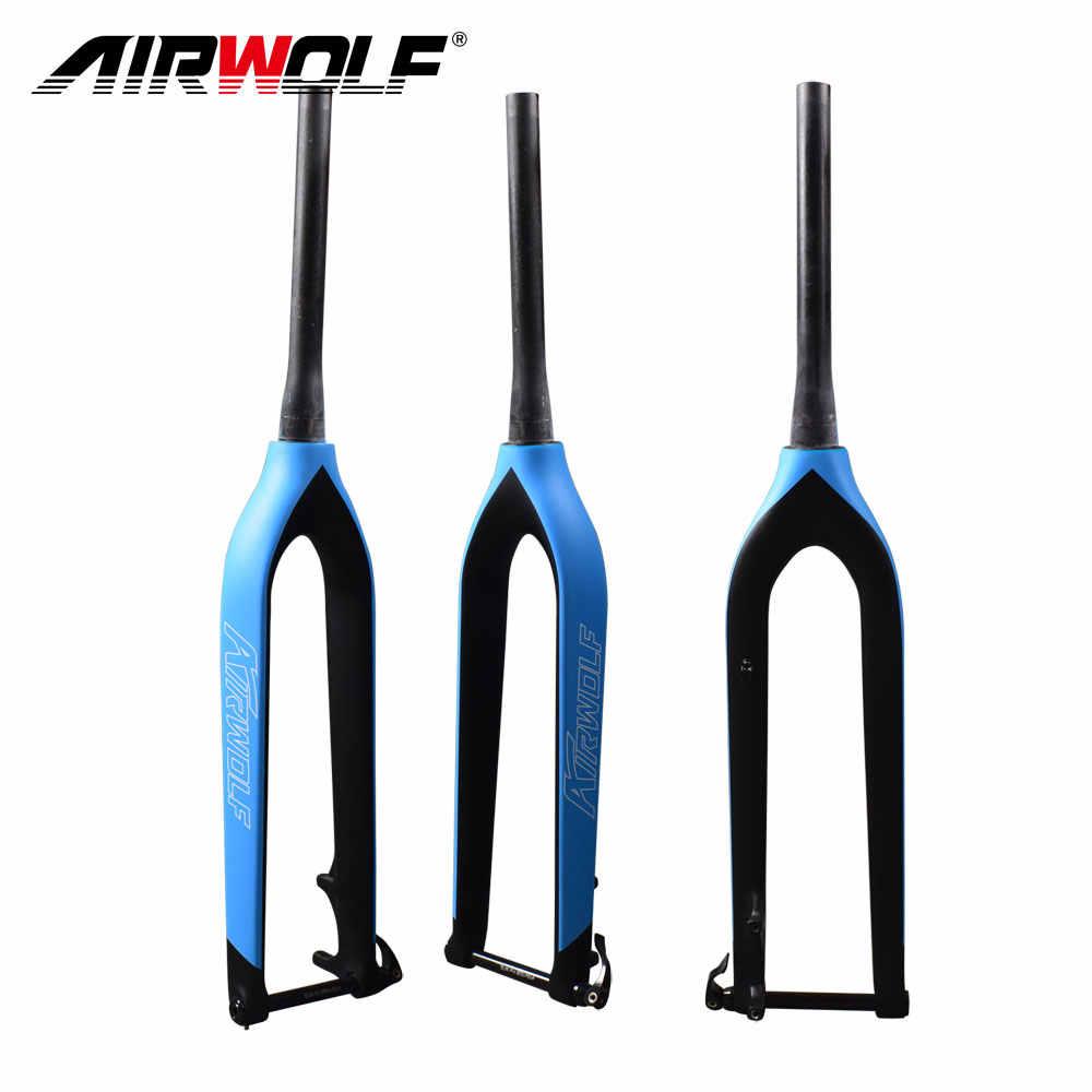 """Details about  /New TRIGON MTB Rigid Carbon Fork for 29er 29/"""" 1-1//8/"""" 1.5/"""" taper Disc Brake 640g"""