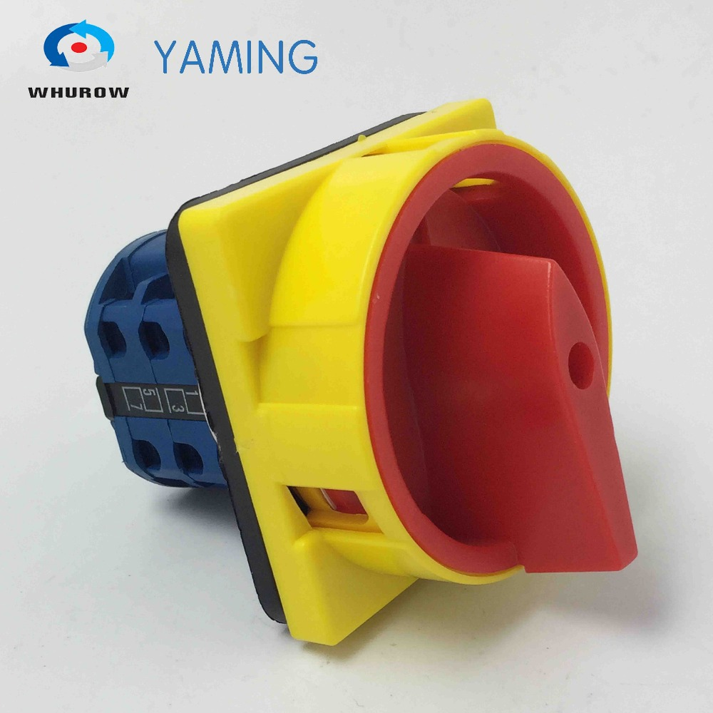 690V 25A 2Poles Padlock Changeover Rotary Switch 2 position ON-OFF switch emergency stop safe control YMW26-25/2GS690V 25A 2Poles Padlock Changeover Rotary Switch 2 position ON-OFF switch emergency stop safe control YMW26-25/2GS