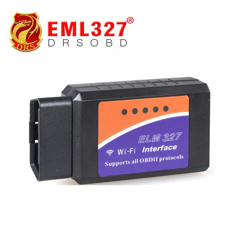 Prix pour Prix usine WIFI ELM327 Sans Fil OBD2 Voiture Outils De Diagnostic WIFI ELM 327 OBDII Outil D'analyse WIFI327 pour IPhone Ipad IPod