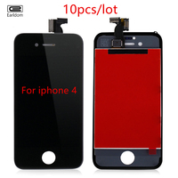 10PCS Free Tools AAA Quality LCD For IPhone 4 4s Screen Display Digitizer Assembly Replacement Black