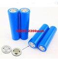 Alta calidad 2 unids/lote 18650 2200 mah 3.7 v batería recargable de li-ion 2200 mah 18650 para el banco de potencia linterna e-cigarrillo