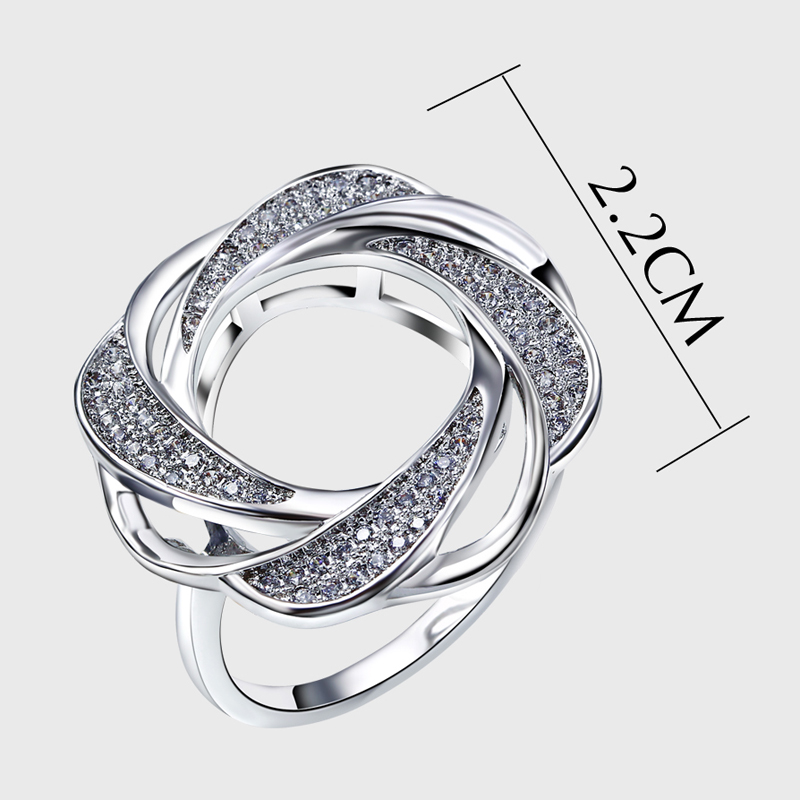 Cute Fashion Rings For Women white Gold Color Plated Engagement