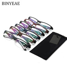 f2139332fd6 BINYEAE Ultralight TR90 Men s Sports Spectacle Frame Man half-frame  prescription glasses frame(China
