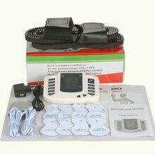 Электростимулятор Tens, электростимулятор, электрод, электростимулятор мышц, физиотерапия, тренировка ems с тапочками + 8 прокладками