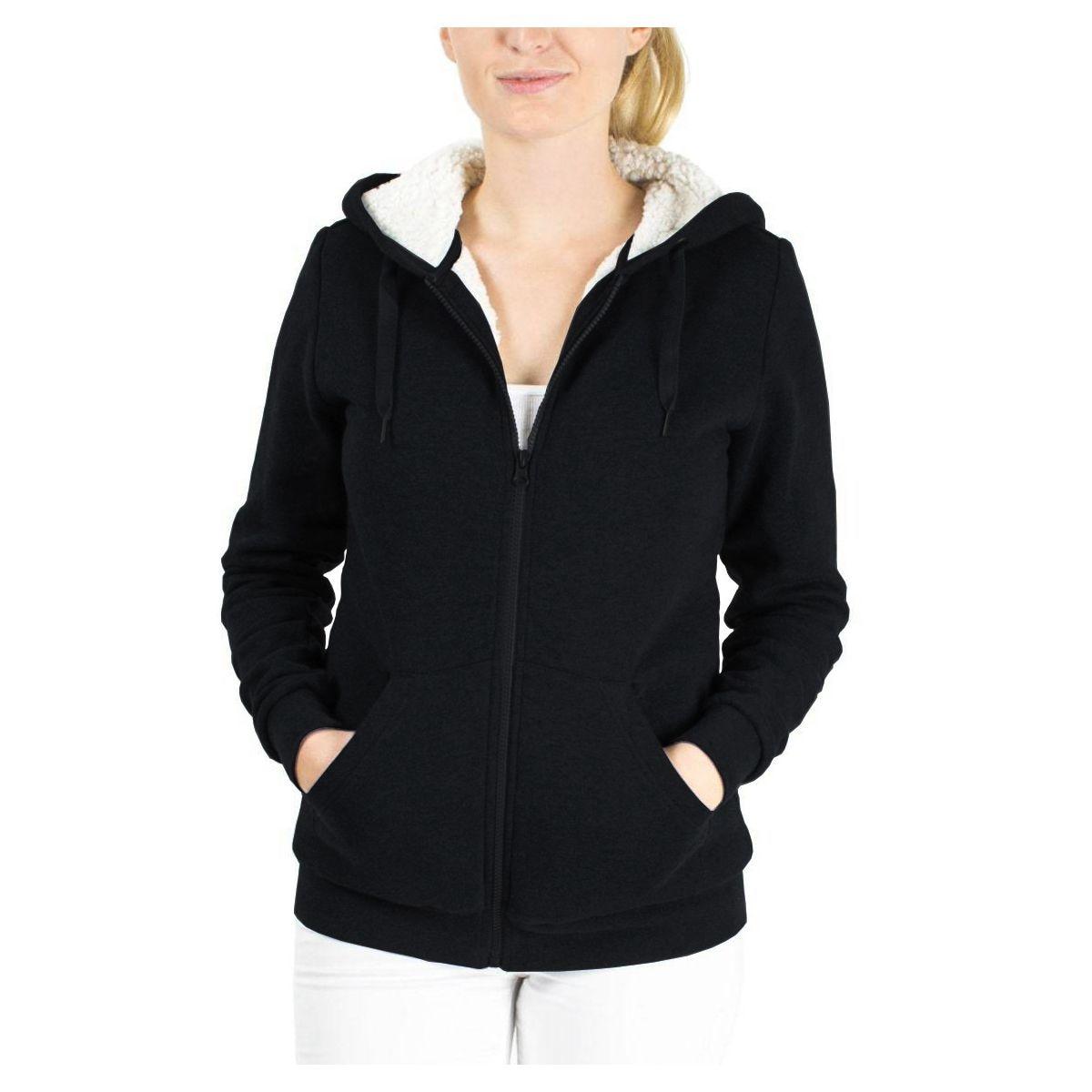 Women Hoodies Overcoat Winter Warm Thick Padded Fur Casual Solid Zip Up Outerwear Cotton Sweatshirt Jacket