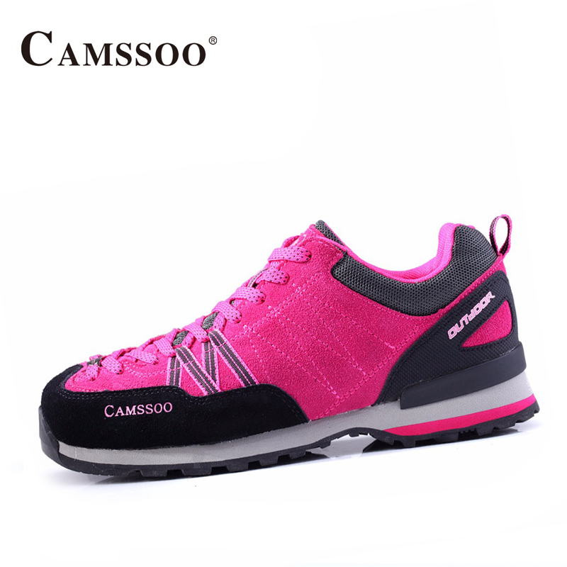 Camssoo Mountain Hiking Shoes Women Light Weight Mesh Breathable Sneakers Platform Wearable Comfortable Shoes AA40341