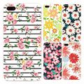 Fashion Phone Case For Iphone 5 5s SE 7 6 6s 6Plus 6sPlus 7Plus Floral Flower Pattern Phone Cover TPU Silicone Fundas Cases Capa