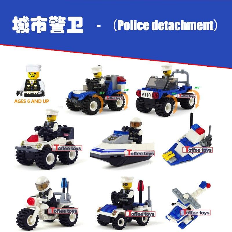 Jie Star CITY Series Guard Helicopter The Cop Vehicle Mini Model Building Blocks set Bricks For Children Toys лего кубики jie star jie star 6