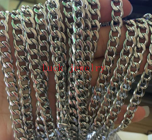 Image 5 - Lot 8 meter in bulk 4mm/6mm/7mm/8mm NK figaro Chain Stainless Steel Jewelry Finding Chain DIY Marking