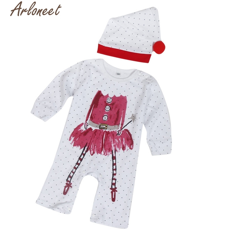 arloneet christmas pajamas dress for baby girls newborn infant baby boys girls print romper jumpsuithat outfits clothes in clothing sets from mother