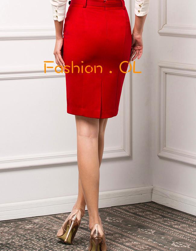 на заказ с учетом формальная работа красный черный синий длиной до колен юбка карандаш. индивидуальные большой размер юбки для работы. mr029