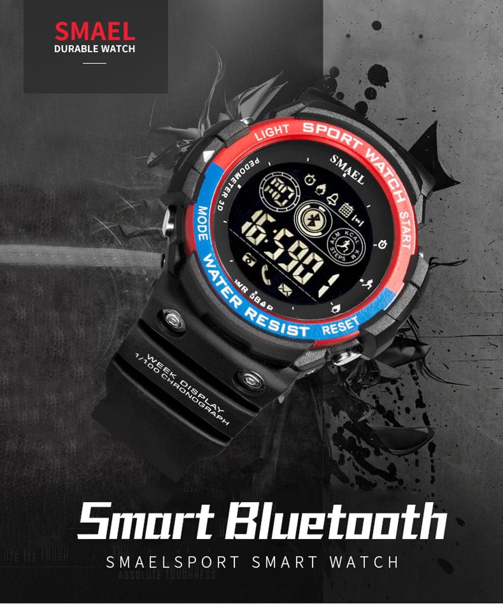 Digital Watch Bluetooth Wrist Military Running Electronic Men's Men Fashion Sport Led-Display