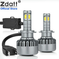 Zdatt 360 Degree Lighting 4 CSP Led H7 Led Canbus Lamp Bulb 100W 14400LM Auto Headlights Car LED Light 12V 6000K White