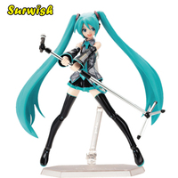 15cm Movable Anime Action Figure Hatsune Miku Model Toy Doll Toy Blue