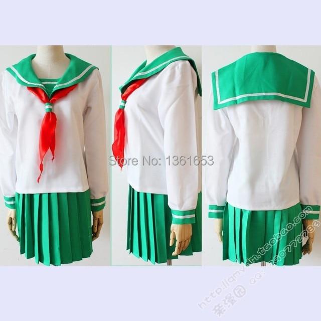 Anime Inuyasha Cosplay Higurashi Kagome Cosplay Costume Sailor Suit - Կարնավալային հագուստները - Լուսանկար 4