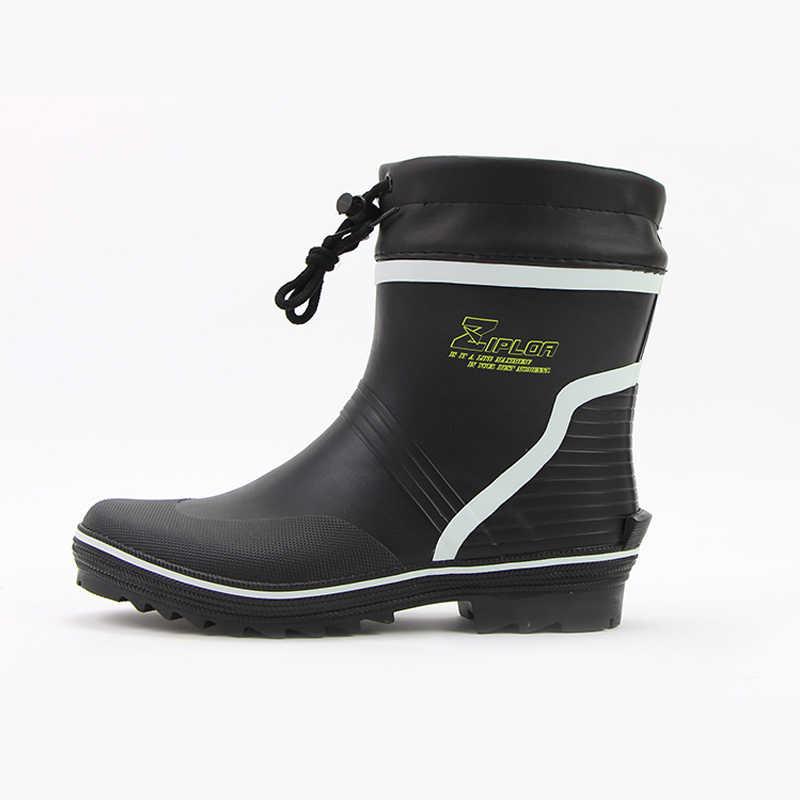 5482b58cbfa Fashion Men's Rubber Rain Boots Waterproof Fishing Boots High Quality  Waterproof Non - Slip Footwear Boots for Men