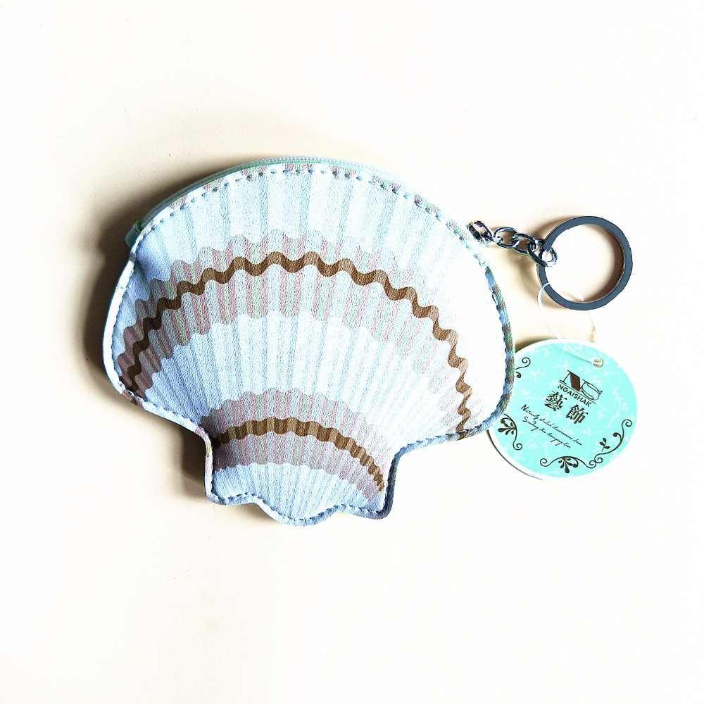 M110 bolsas femininas dos desenhos animados bonito oceano série concha listrado peixe âncora do navio polvo baleia chave fivela cartão moeda saco