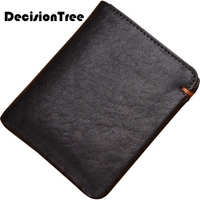 Man Genuine Cow Leather Short Card Holder Clutch Top Male Casual Soft Wallet Fashion Classic Wallet Unisex Large Purse LY137