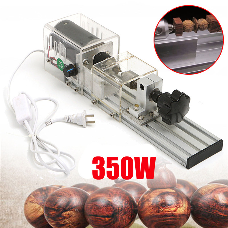 350W New Precision Mini Wood Lathe Machine DIY Woodworking Lathe Polishing Cutting Drill Rotary Tool Standard Set Bench Drill