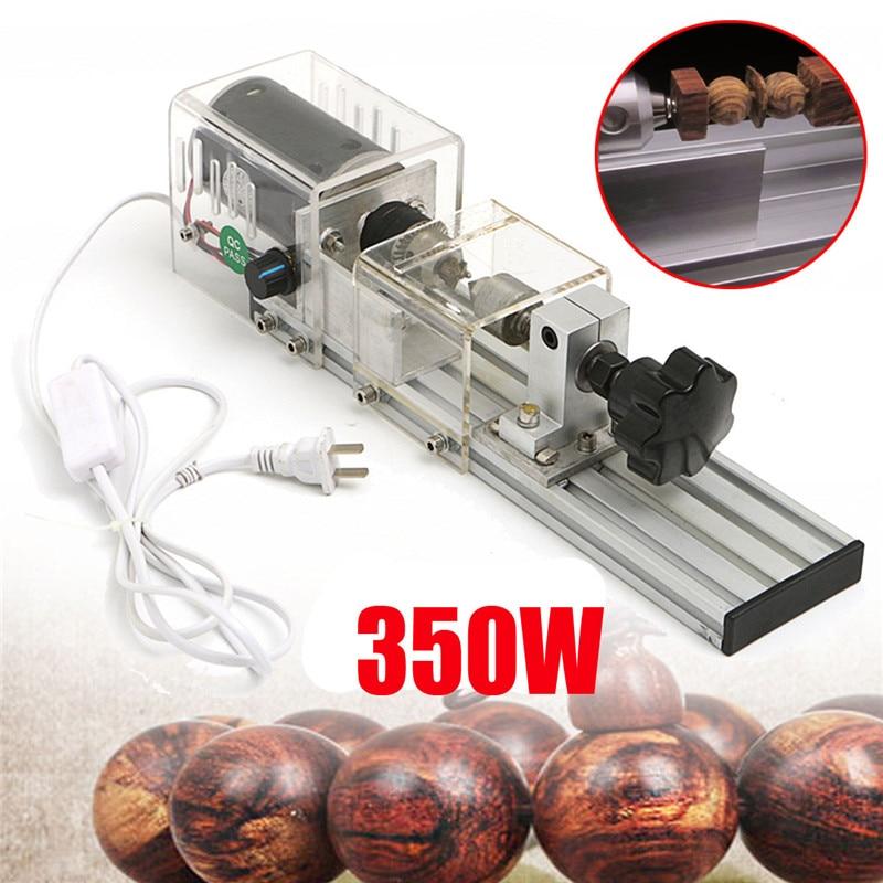 350W New Precision Mini Wood Lathe Machine DIY Woodworking Lathe Polishing Cutting Drill Rotary Tool Standard Set Bench Drill
