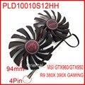 2pcs/lot POWER LOGIC PLD10010S12HH 12V 0.40A 4Pin 94mm For MSI R9 380X 390X GAMING GTX960 GTX950 Cooler Cooling Fan
