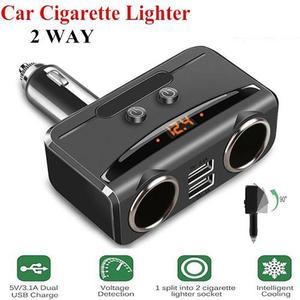 12V Car Cigarette Lighter Spli