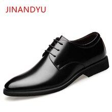 Altura crescente 6 cm elevador sapatos de casamento masculino couro genuíno oxfords elegante vestido formal sapatos 2019 sapatos de noivo