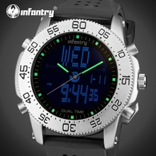 INFANTRY Men LED Sports Watches Luxury Brand Relogio Masculino Military Luminous Digital Wristwatches Rubber Strap Alarm Clock