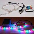 5 V Cabo USB conduziu a luz de tira USB TV Back Light 3528 RGB 5050 SMD 60led/m Fita tape lamp + Controle Remoto para TV fundo