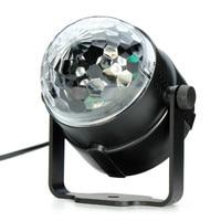 3W RGB LED Projector DJ Light Disco Ball LED Par Crystal Magic Ball Bar Party Xmas