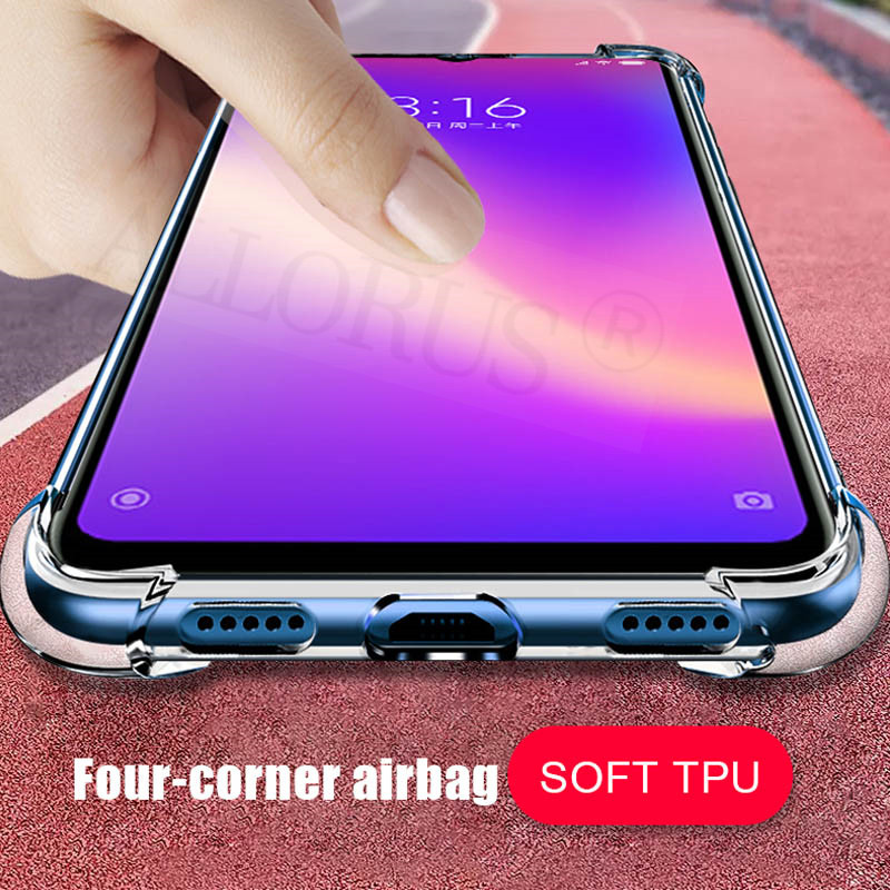 TPU Airbag Cover on for Xiaomi Mi 9T Case Soft Clear Transparent Silicone Phone Case Xiaomi Mi 9T Back Protective shell in Fitted Cases from Cellphones Telecommunications