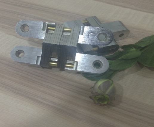 3pcs/Lot 19*95mm Conceal Hinges For Folding Sliding Door Mortise 180 Degree Turning Concealed Cross Hinge