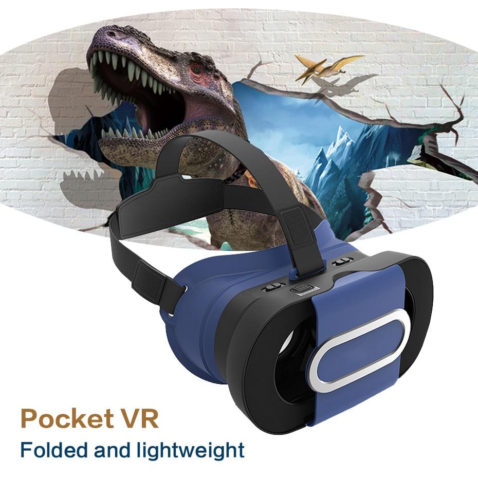 VR מיני 3D מציאות וירטואלית משקפי מגן - אודיו ווידאו נייד