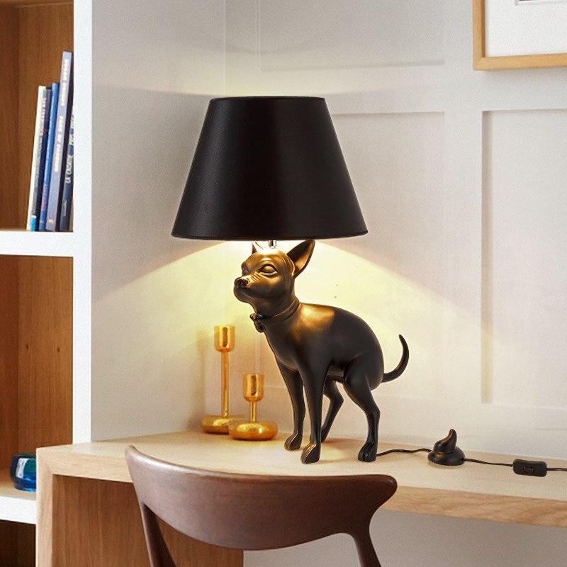 Lampe de Table moderne en septembre lampe de bureau noire luminaire chambre étude éclairage lampe Animal lampe de lecture de salon EMS livraison gratuite