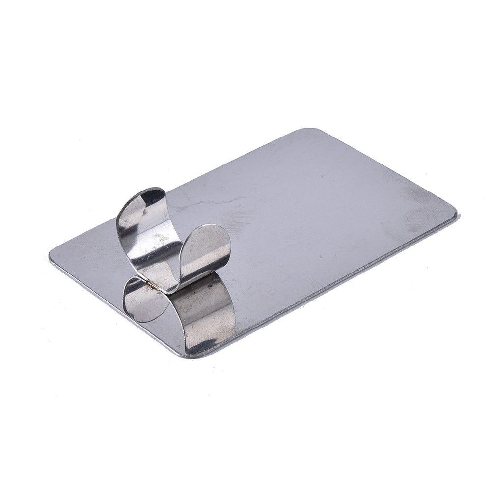 Finger Ring Color Palette Stainless Steel Plate Make Up Cream Foundation Mixing Palette Cosmetic Make Up Tool 7.7cmx5cm