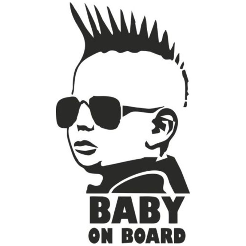 8.3*15CM BABY ON BOARD Funny Car Sticker Personality Warning Decal C4-0868 10pcs lot 200 250mm yellow and black decal sticker warning board 24hr cctv surveillance security camera sticker decal signs