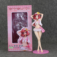 10 25cm Japan Anime Sexy Girl LoveLive Love Live Maki Nishikino Swimsuit PVC Model Toy Doll Collectible Brinquedos for Gifts